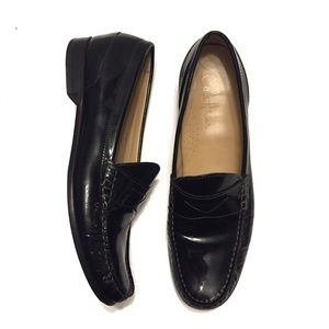 Cole Haan Black Patent Leather Penny Loafer
